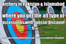 Archery in Pakistan & Islamabad where you get the all type of accessories with Special Discount  http://www.shaheenadventures.com/archery-in-pakistan-islamabad/