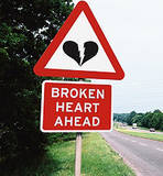 broken heart ahead sign