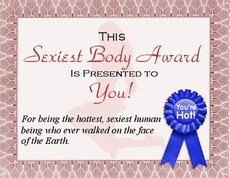 this sexiest body award is presented to you