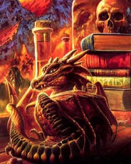 dragons and skull fire