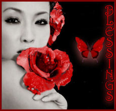 Blessings - rose - butterfly