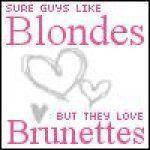 sure guys like blondes but they love brunettes