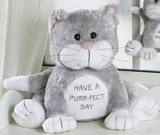 Stuffed cat - Have a perr-fect day