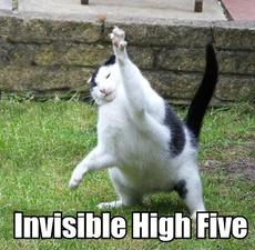 invisible high five