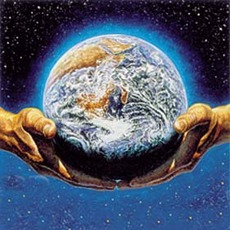 hands holding the earth