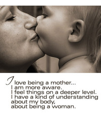 i love being a mother