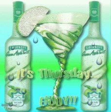 it's thursday  enjoy smirnoff green apple twist