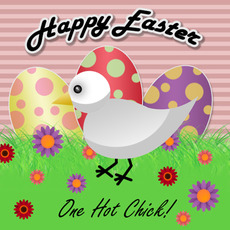 happy easter one hot chick
