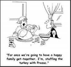 stuffing the turkey with prozac