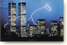 twin towers lightning
