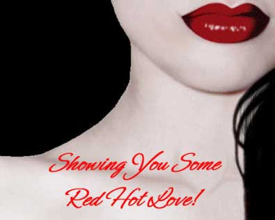 showing you some red hot love sexy lips