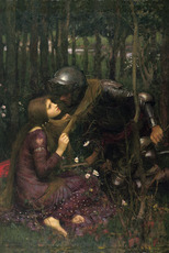 woman kisses knight