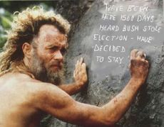 castaway heard bush stole election decided to stay