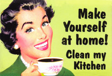 make yourself at home - clean my kitchen
