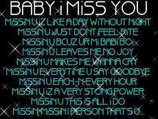baby i miss you