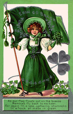 happy st patricks day post card