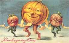 thanksgiving day dancing pumpkins